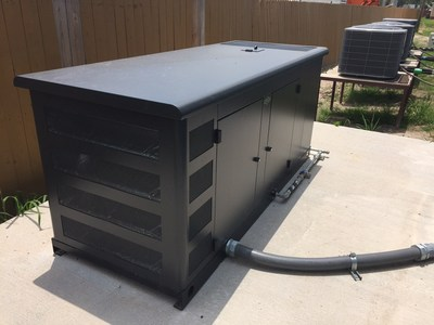 Briggs & Stratton donated a 60kW  standby generator and two transfer switches to Camp Hope.