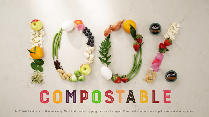 McCafé® launches campaign highlighting 100% Compostable Pods (CNW Group/McDonald's Canada)