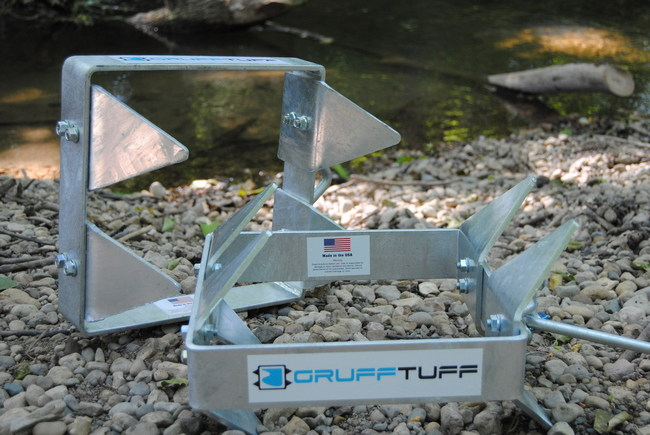 Never worry about drifting again with the GruffTuff box anchor. Constructed of galvanized A36 steel, this unique American-made anchor requires half the rope length of a traditional anchor and holds in nearly any condition.
