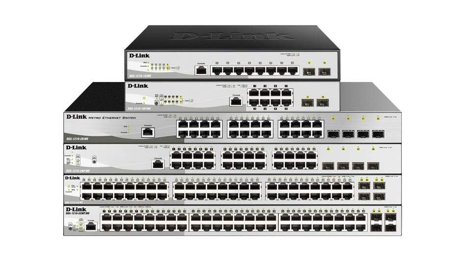 The D-Link DGS-1210/ME Series is designed to support additional features required by providers who offer Internet and video services to their business customers.