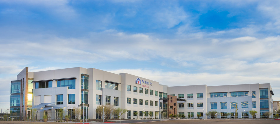 Farmers Insurance newest, state-of-the-art facility in Phoenix will house upwards of more than 1,400 employees by the beginning of 2018.