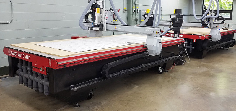 Cardinal Manufacturing's two AXYZ Pacer 4010 CNC routers assist with their metal fabrication, laser routing and engraving. The routers are engineered to provide the highest combination of quality and precision for all materials and applications