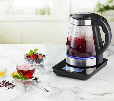 The GDK380 is one of 12 Gourmia tea kettles being displayed at the World Tea Expo.