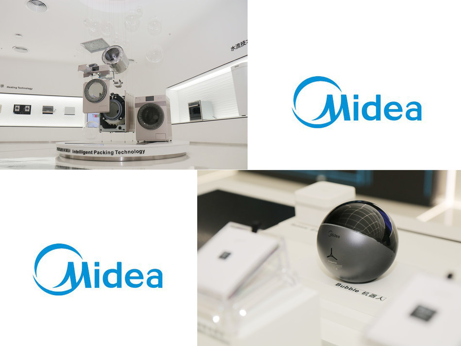 Midea persuits the best products by improving the efficiency of each component. (left). Intelligent robot developed by Midea Smart Home (right).