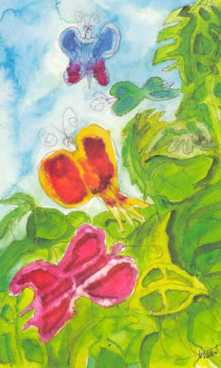 Butterfly Study: Watercolor by Jerry Garcia