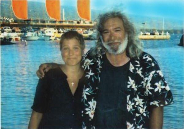 Jerry and Manasha Garcia in Hawaii, 1988,where Jerry advocated for coral reef preservation
