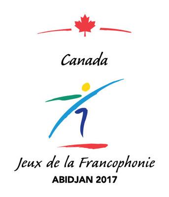 Logo officiel d'Équipe Canada aux huitièmes Jeux de la Francophonie. Incorporés au logo les mots Canada, Jeux de la Francophonie et Abidjan 2017. (Groupe CNW/Patrimoine canadien)