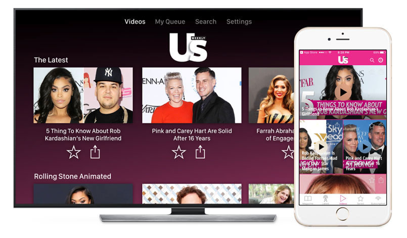 Watch Us Weekly on Apple TV, Chromecast and iOS.