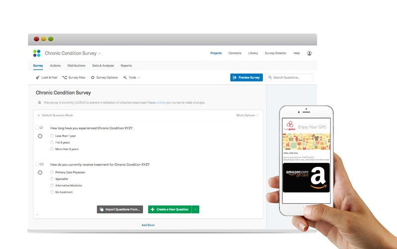 Setting up Qualtrics surveys to deliver customized rewards takes only minutes with Rybbon