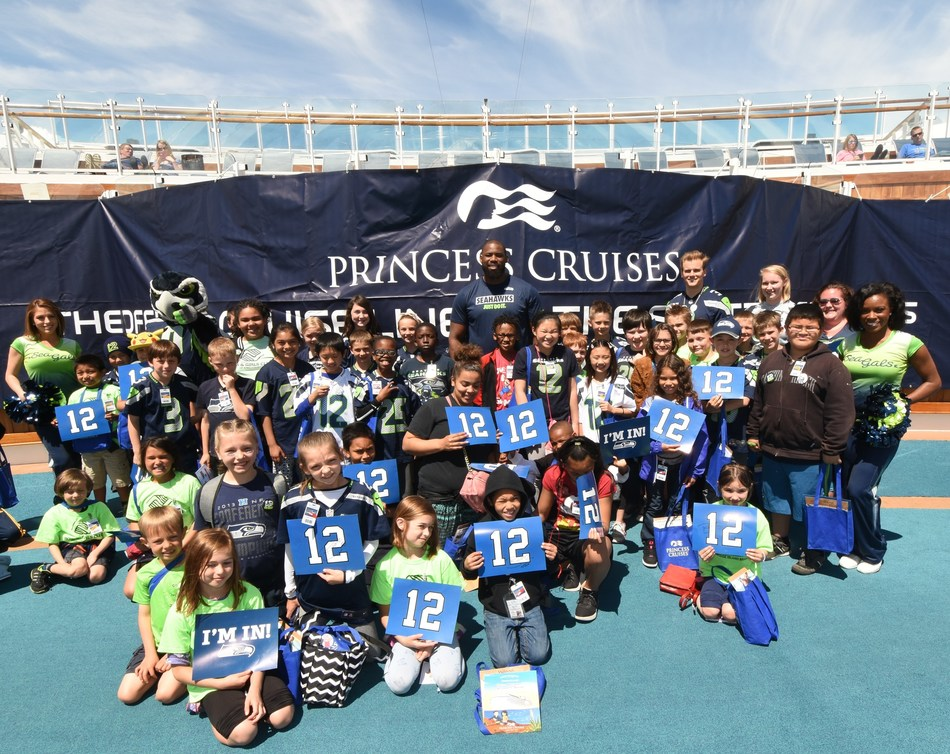 Princess Cruises and Seattle Seahawks Host End of School Bash for Boys and Girls Club of King County