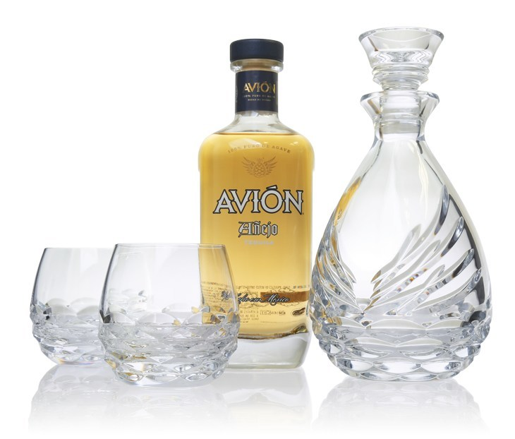 Tequila Avion And Waterford Partner To Launch The Avion Collection Crystal Sipping Decanter Gift Set
