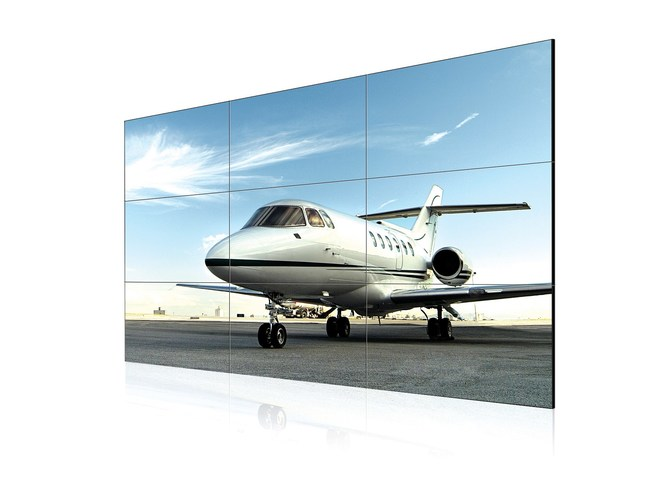The new and innovative 55-inch LG Ultra-Bright video wall display features a slim 3.5mm bezel to bezel width and is three times brighter than conventional solutions. With 1500 nit peak brightness, and a high-performance system-on-a-chip, the new display (model 55VX1D) offers image quality and high brightness necessary to grab customers' attention from distances near or far, even in brightly lit areas.
