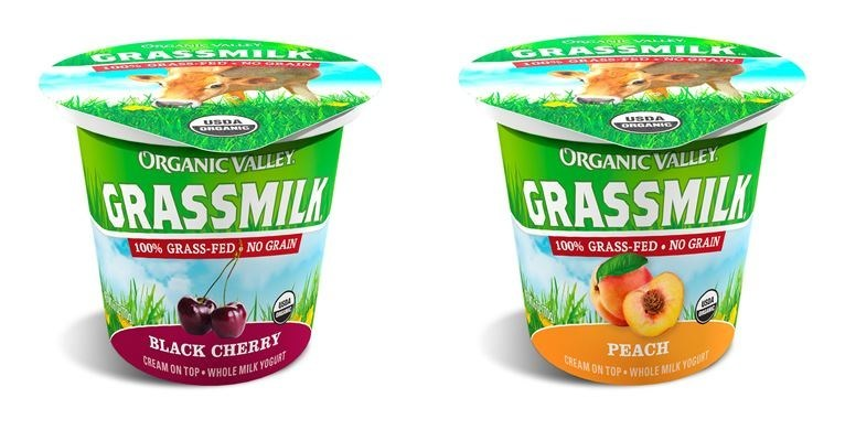 Organic Valley's award-winning Grassmilk Yogurt single-serves are now offered in two new flavors:  Black Cherry and Peach.