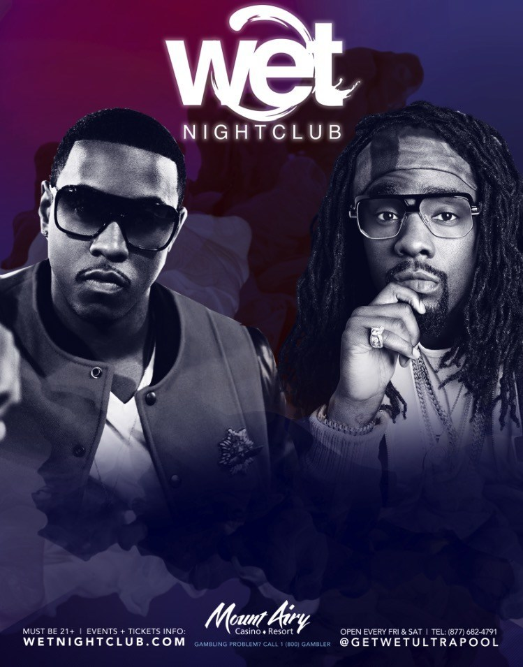 Pictured left and pictured right: Jeremih appears at Wet Nightclub on July 1 at Mt. Airy Casino Resort, Wale appears at Wet Nightclub on July 3 at Mt. Airy Casino Resort