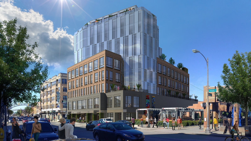 800 North High Street Rendering - Image Provided by Crawford Hoying Development Partners