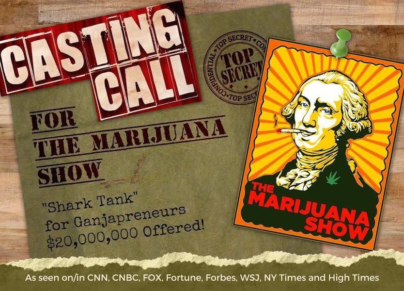 Post card of the Marijuana Show Casting Call