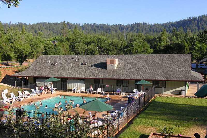 The swimming pool area at Yosemite Pines Resort is just one of the many on-site activities and amenities available to guests. Play a game of Bocce Ball or Beach Volleyball, eat in the deli, or smile as the kids enjoy the Petting Farm. The pool is a great place to relax after a day trip to Yosemite National Park. Other fun area activities include visiting the historic California Gold Rush towns or hiking, fishing and enjoying the Sierra Nevada Mountains.