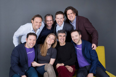Executive Team (top left to bottom right): Jeremy Barnes (Chief Architect), Gabriel Duford (SVP Development and Technology), Nicolas Chapados (Chief Science Officer), Philippe Beaudoin (SVP Research), Jean-Francois Gagne (CEO), Anne Martel (SVP Operations), Yoshua Bengio (Board Member, co-founder), Jean-Sébastien Cournoyer (Board Member, co-founder) (CNW Group/Element AI)