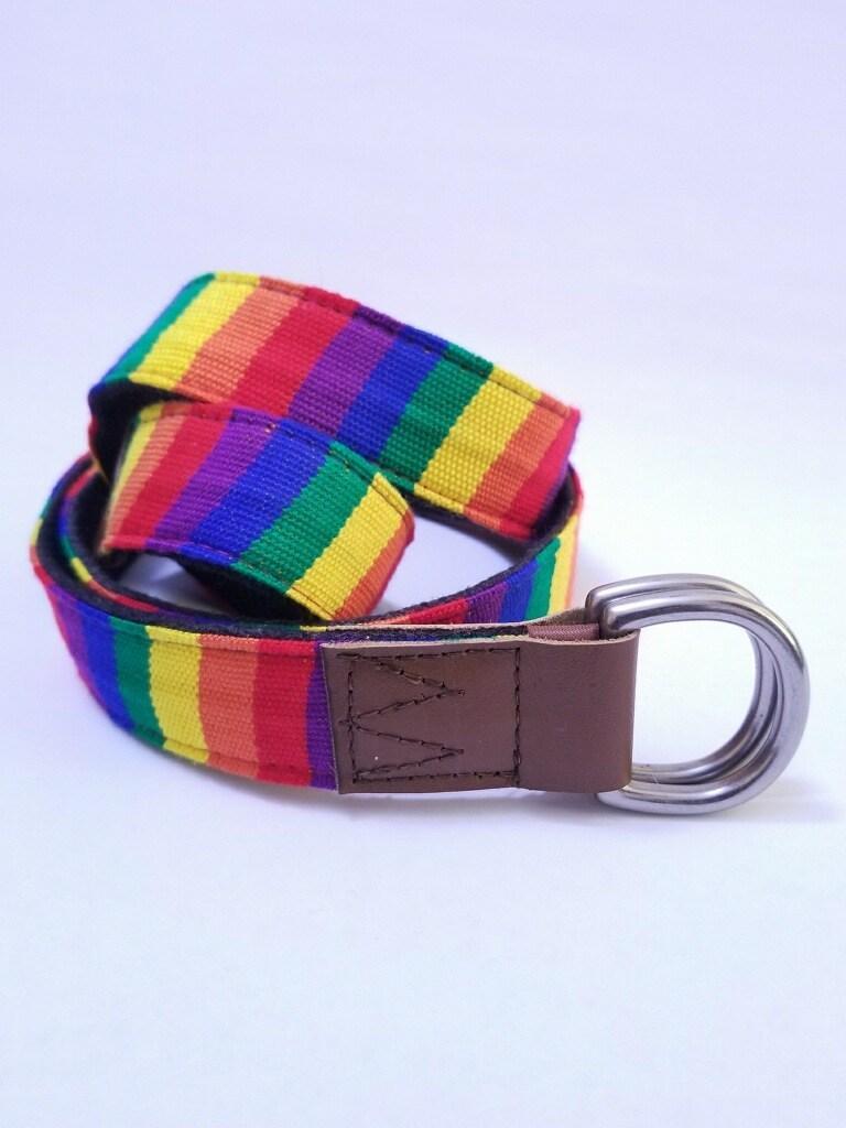 WovenWell Rainbow Project D Ring Belt