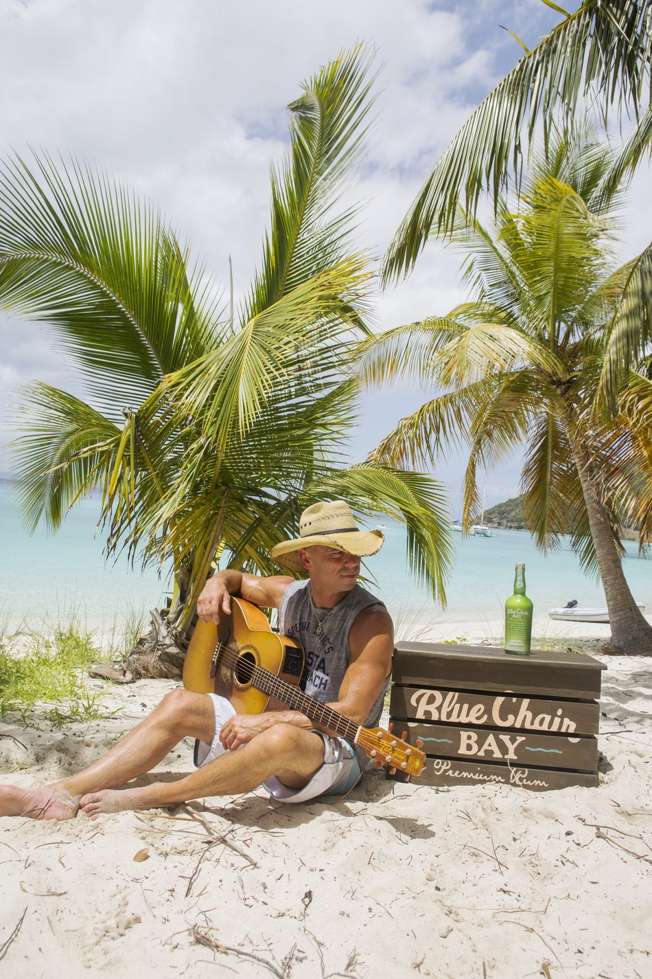 Kenny Chesney enjoys his Blue Chair Bay(R) Key Lime Rum Cream Courtesy of Blue Chair Bay(R) Rum