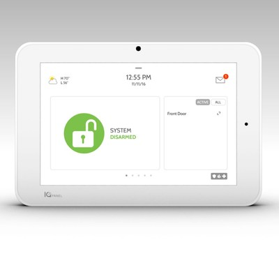Qolsys IQ Panel 2 All-In-One Platform Boasts Several Industry Firsts:  S-Line Encrypted Sensor Technology, 5MP Panel Camera, Bluetooth Touchless Disarming, Dual Path Communication with LTE and Wi-Fi