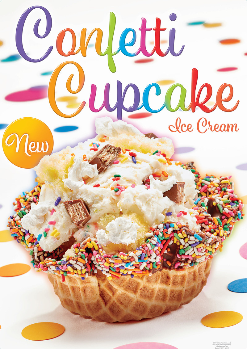 Confetti Cupcake Ice Cream and Party Like a Cupcake™ Creation are Available for a Limited Time Only at Cold Stone Creamery®.