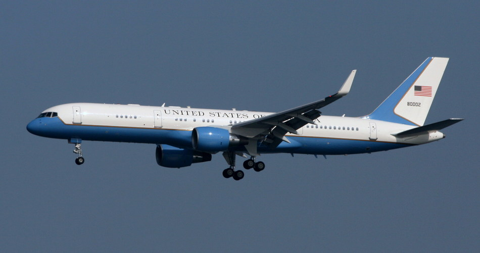 United States Air Force C-32A (military variant of Boeing 757-2G4) is among the covered aircraft used for VIP transport. Photo credit: Sam Meyer via Wikimedia Commons.