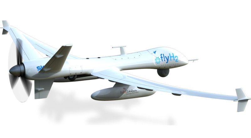 UA Alpha drone, FlyH2 Aerospace''s flagship remotely piloted aircraft. (CNW Group/Ballard Power Systems Inc.)