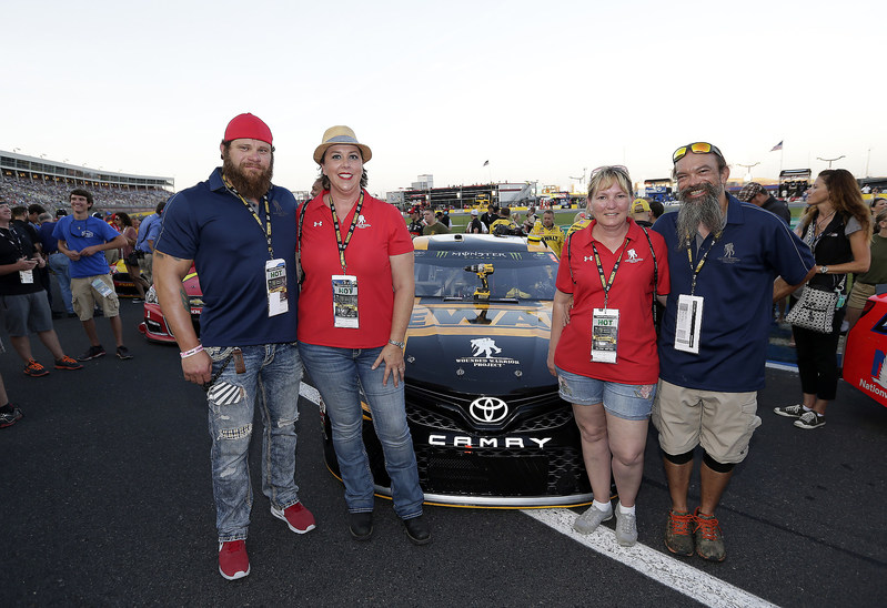 A group of wounded veterans served by Wounded Warrior Project recently enjoyed a day with the DeWALT NASCAR racing team.