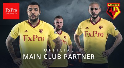 FxPro and Watford FC Announce Sponsorship Agreement (PRNewsfoto/FxPro)