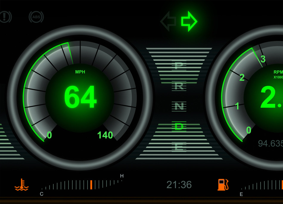 Due to the new Topled E1608 and its excellent output, car dashboards can be a real eye-catcher. Picture: Osram