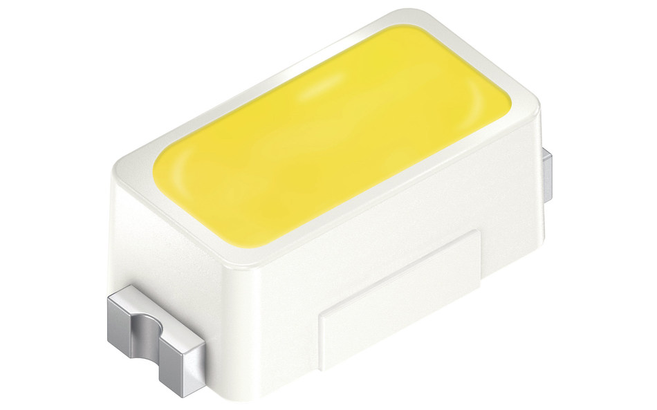 The new Topled generation, E1608, combines versatility with a package miniaturized by factor 20. Picture: Osram