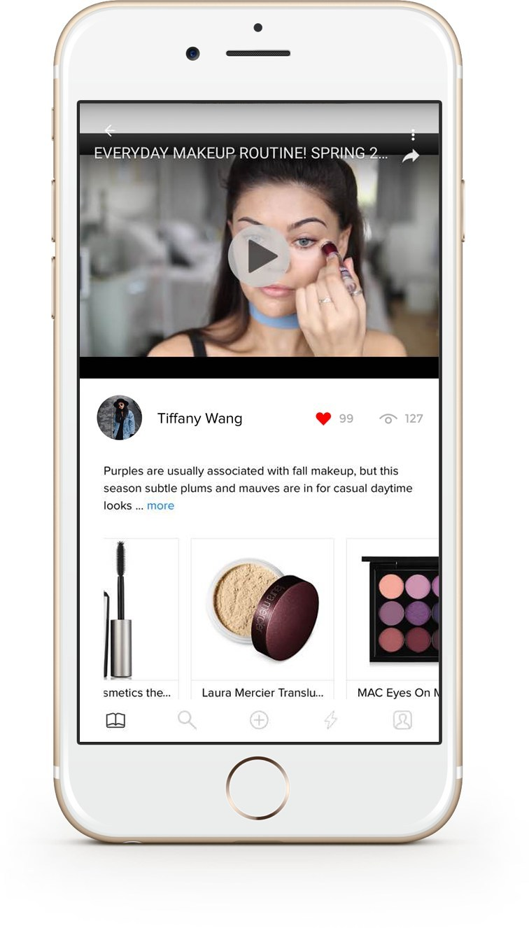 Users able to watch a video and products within video are shoppable right on the spot. Everytime item is shopped, user who uploaded the contents are rewarded with points, which can be cashed out.