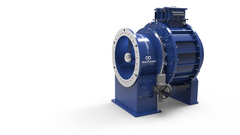 ClearPower North America has launched a patented, axial flow, fixed-blade Kaplan Industrial Turbine Generator (ITG), a solution that utilizes gravity-fed pipelines or outfalls to convert water flow into a source of sustainable, renewable, low-cost electricity.