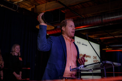 John Simpson, CEO of One North Interactive, accepts the 2017 Moxie Award for digital agency of the year. Hosted by Built In Chicago, the Moxie Awards celebrate innovation and growth among Chicago's technology entrepreneurs and digital tech companies.