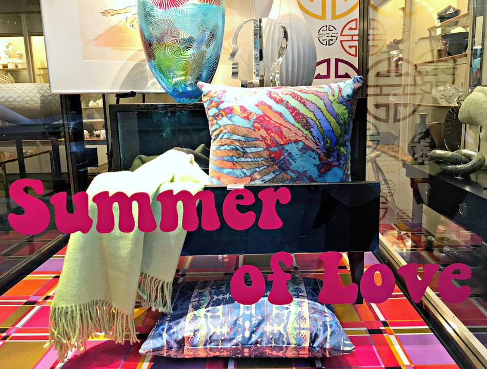 """Smith-Honig home furnishings and decor featured in Gump's """"Summer of Love"""" in-store event"""