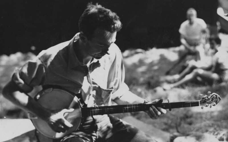 Singer Pete Seeger at Camp Woodland -- The Early Years
