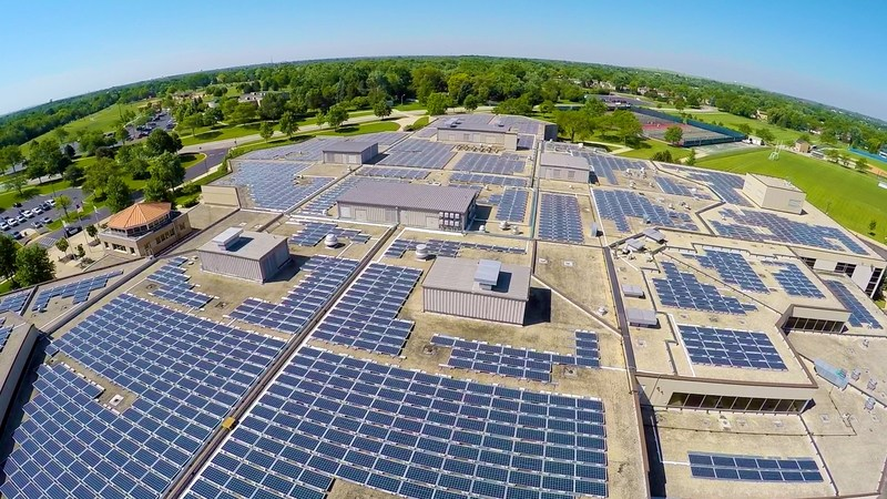 Lake Park High School West Campus solar array