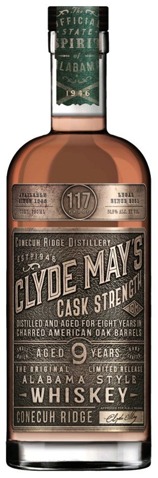 CLYDE MAY'S DEBUTS NEW LIMITED-EDITION 9-YEAR CASK STRENGTH WHISKEY
