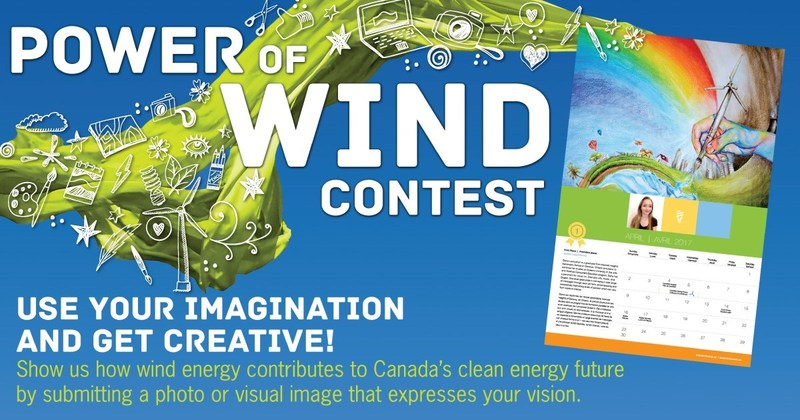 CanWEA marks Global Wind Day with launch of expanded Power of Wind contest (CNW Group/Canadian Wind Energy Association)