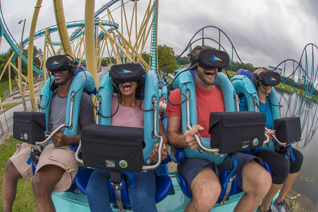 Kraken Unleashed at SeaWorld Orlando, a first-of-its-kind virtual reality roller coaster in the United States, opens to the public on June 16.