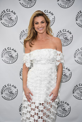 Erin Andrews partners with White Claw, a hard seltzer crafted with a pure alcohol base, pure sparkling water and a hint of natural fruit juice, to celebrate balanced living and pure refreshment all summer long.