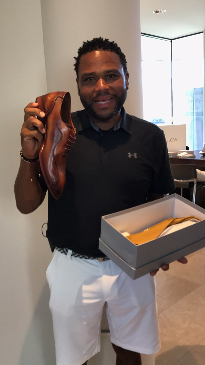 Anthony Anderson, celebrity actor happy with his TucciPolo shoes