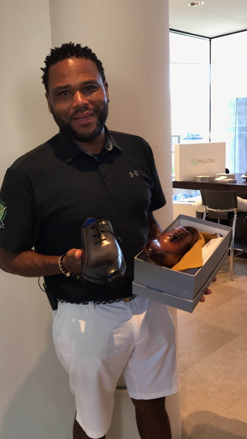 Celebrity Actor Anthony Anderson with His TucciPolo Shoes