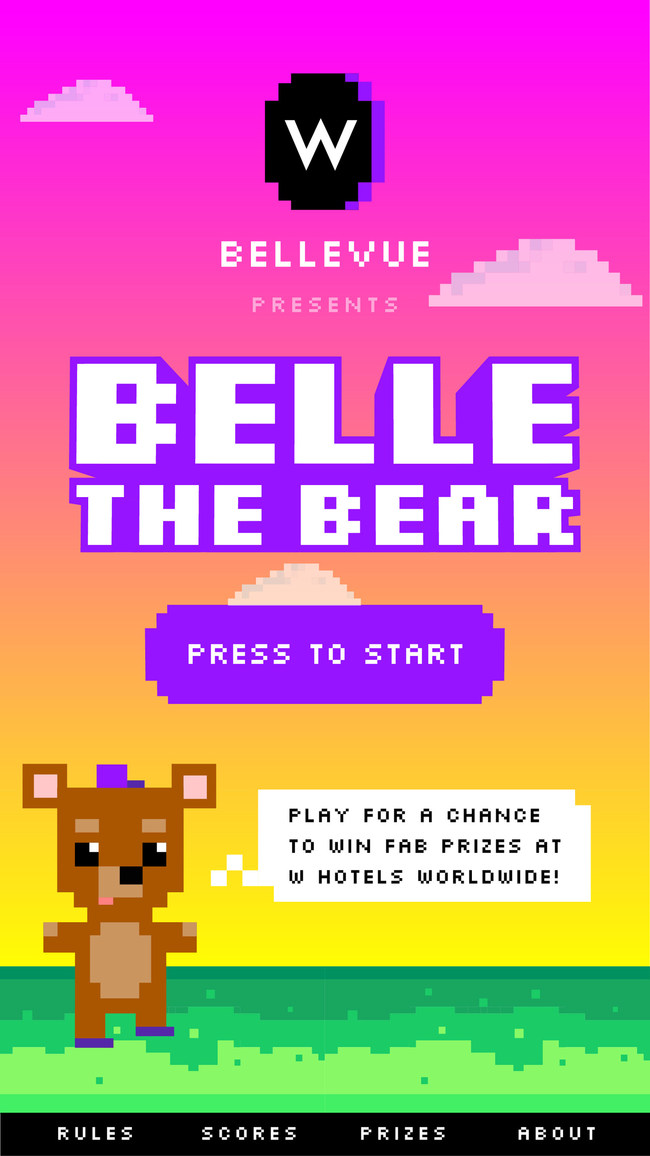 Hotel Industry's First Video Game, Belle the Bear, Created to Celebrate the Opening of W Bellevue