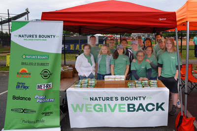 The Nature's Bounty Co. We Give Back Team poses for a picture at the Long Island Special Olympics in May.