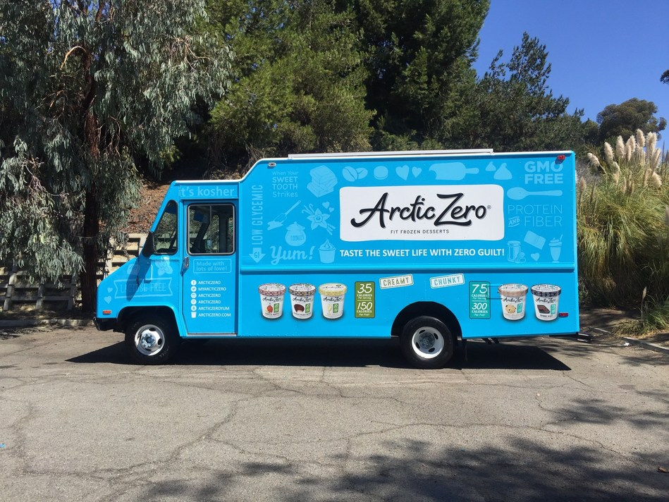 It looks like the ice cream truck – but it serves a delicious ice cream alternative, suitable for those with dietary restrictions or who are trying to stay fit. ARCTIC ZERO® will travel the country this summer, sampling its low calorie, lactose-free, naturally sweetened Fit Frozen Desserts™