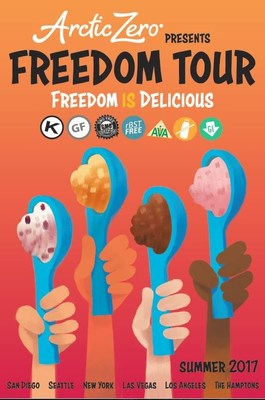 ARCTIC ZERO® Fit Frozen Desserts™ is launching its summer Freedom Tour, visiting cities nationwide with free samples of its lactose-free, whey protein-based frozen desserts.