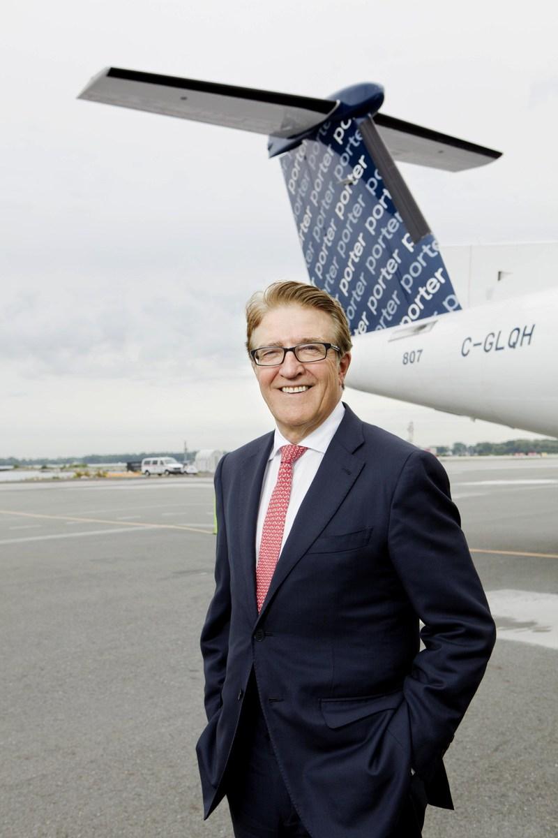 Le Panthéon de l'Aviation du Canada honore Robert Deluce, chef de la direction de Porter Airlines (Groupe CNW/Porter Airlines Inc.)