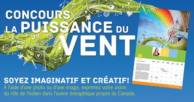 CanWEA célèbre la Journée mondiale de l'énergie éolienne en lançant une version étendue du concours La puissance du vent (Groupe CNW/Association canadienne de l'énergie éolienne)
